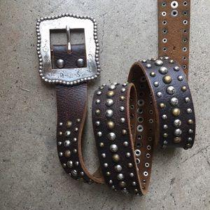Western Studded Belt